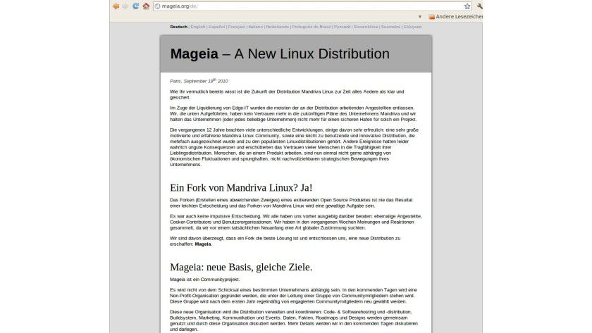 Mageia: For der Mandriva-Distribution