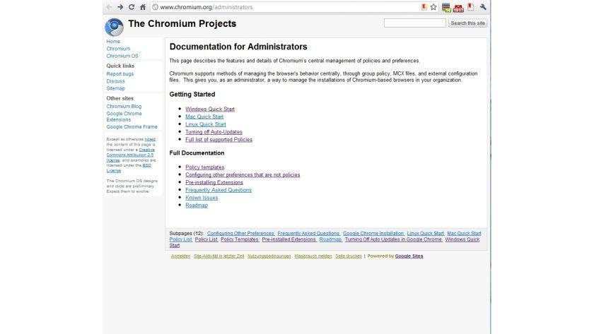 Firmen-Features: Das Chromium-Projekt für Administratoren bringt zusätzliche Management-Funktionen für den Chrome-Browser.