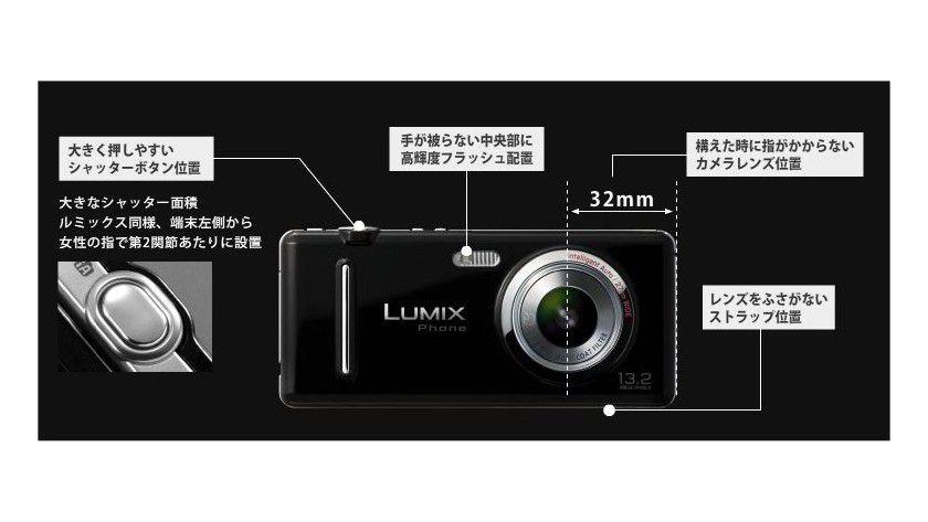 Handykamera oder Kamerahandy: Panasonic hat auf der CEATEC sein Lumix Phone demonstriert. (Quelle: Panasonic)