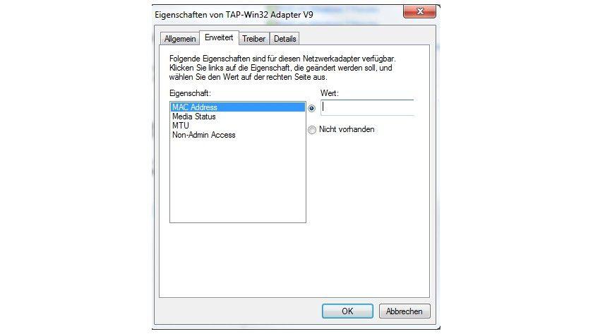 Adresseintrag: Die MAC lässt sich direkt in Windows ändern, die Funktion ist aber ein wenig versteckt.