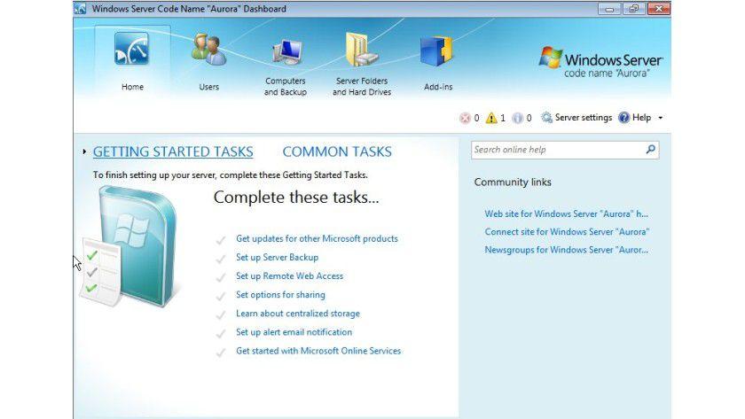 Kompakt: Der Small Business Server 2011 Essentials richtet sich an Unternehmen mit bis zu 25 Nutzern.