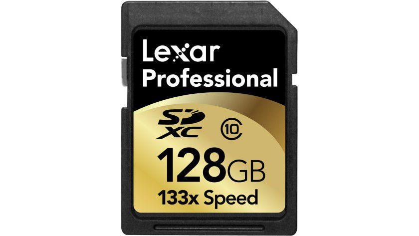 CES 2011: Lexar Media stellt eine SDXC-Karte mit 128 GByte Kapazität vor.