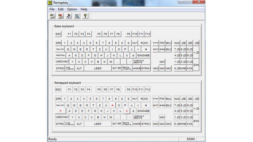 Neue Zuordnung: Remapkey aus dem Windows Toolkit ist ein praktisches Tool, mit dem man das Keyboardlayout bequem und dauerhaft anpassen kann.