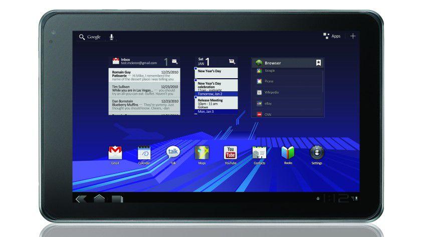 LG V900 Optimus Pad: Das Tablet nutzt ein 8,9-Zoll-Display mit 1280 x 768 Bildpunkten. Neben dem Betriebssystem Google Android 3.0 setzt LG auf die Dual-Core-CPU NVIDIA Tegra 2.