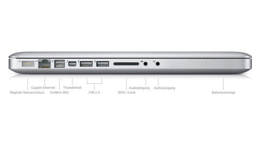 Erster Kunde: Apple hat Thunderbolt bereits im neuen MacBook Pro integriert.