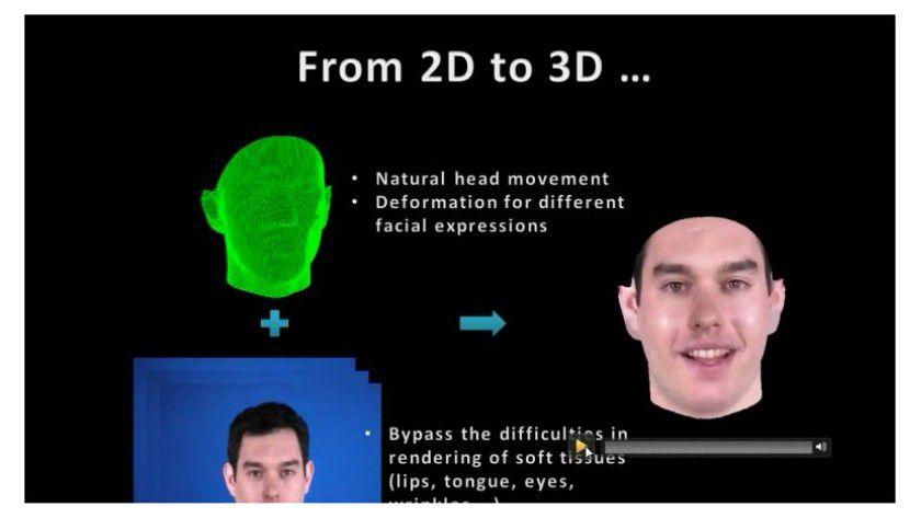 3D-Avatar: Mithilfe einer Videoaufnahme bekommt der Avatar die Gesichtszüge des Anwenders.