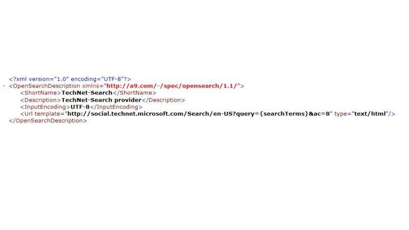 Eigene Suche: Im IE9 lassen sich Suchanbieter recht einfach erstellen - im Bild eine Suchmaschine speziell für das Microsoft Technet.