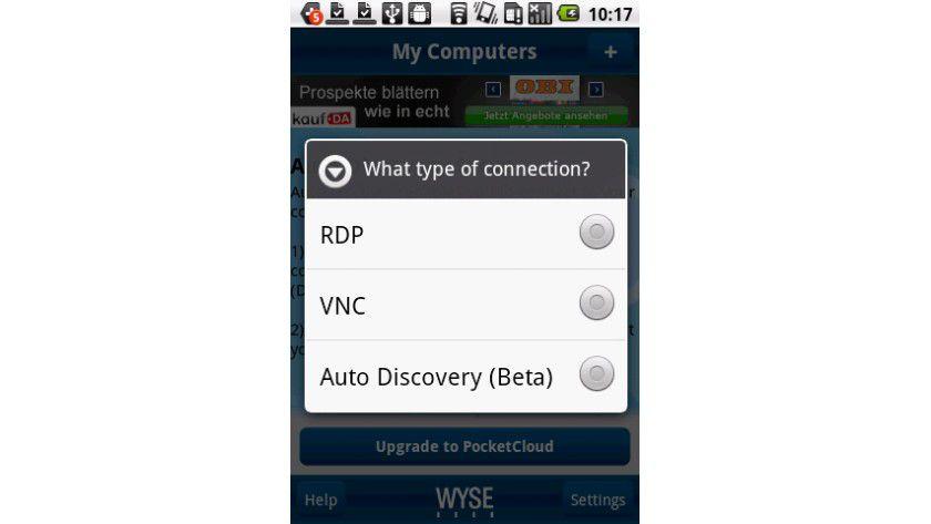 Fernzugriff: RDP und VNC zur Fernwartung von Computern oder Servern sind per kostenlose App möglich.