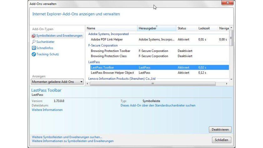 Schneller starten: Die Preview-Version von LastPass ist deutlich besser auf den IE9 abgestimmt.