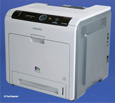 Samsung CLP-620ND: Im schlichten Gehäuse steckt eine serienmäßige Duplex-Einheit.