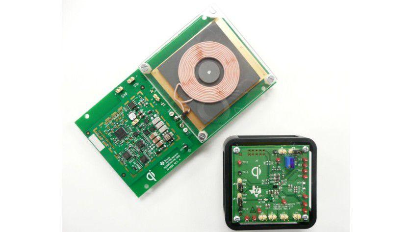 Kabellose Stromübertragung: Texas Instruments Kompaktlösung bq500110 soll besonders in Smartphones Einzug finden.