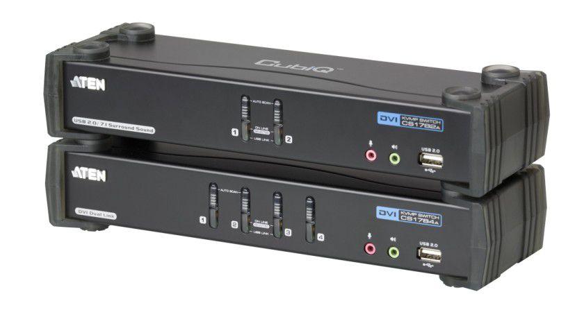 Neu: Die KVM-Switche CS1782A und der CS1784A von Aten unterstützen 3D-fähige Videoübertragung.