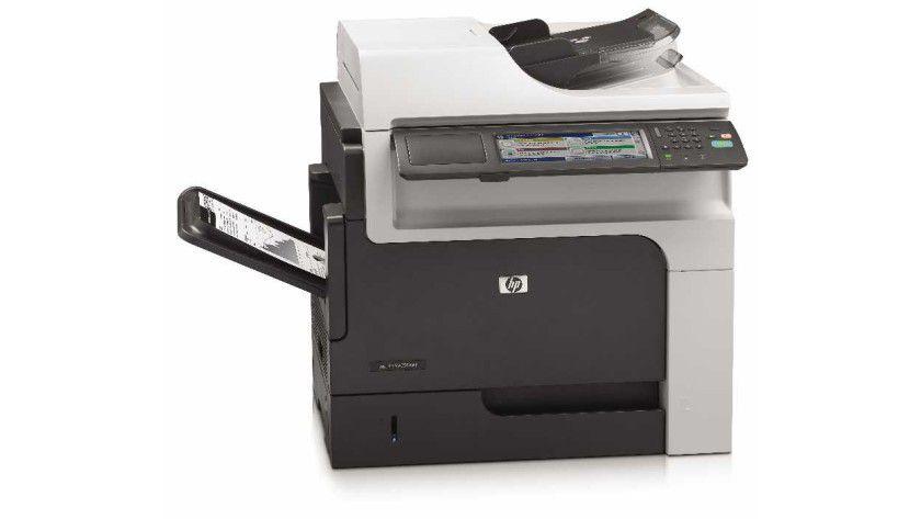 HP LaserJet Enterprise M4555 MFP: Das Druckwerk soll es auf bis zu 52 Seiten pro Minute bringen.