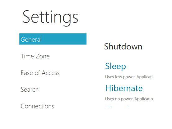 """Immersive User Interface: Windows 8 kommt mit einer alternativen für Touch-PCs und Tablets optimierten Oberfläche. Dieses """"Immersive User Interface"""" beinhaltet auch diese angepasste Systemsteuerung."""