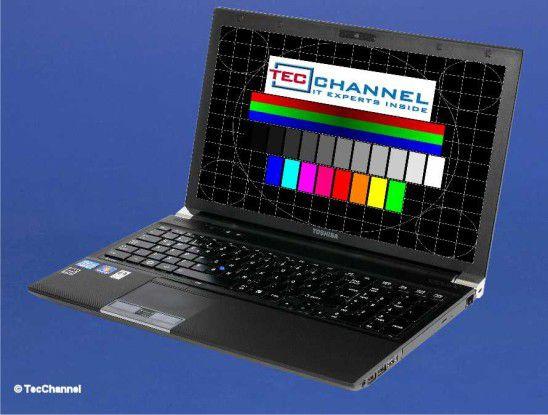 Toshiba Tecra R850: Das 15,6-Zoll-Display arbeitet mit 1366 x 768 Bildpunkten und LED-Hintergrundbeleuchtung.