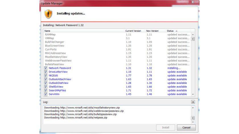 Windows System Control Center: Das Update-Modul lädt die verschiedenen Tools nach der Installation auf den Rechner.