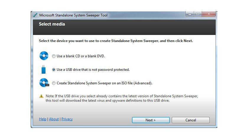 Sicherheits-Tool: Der Assistent erstellt ein bootfähiges Medium, mit dem sich ein infizierter Rechner starten lässt.