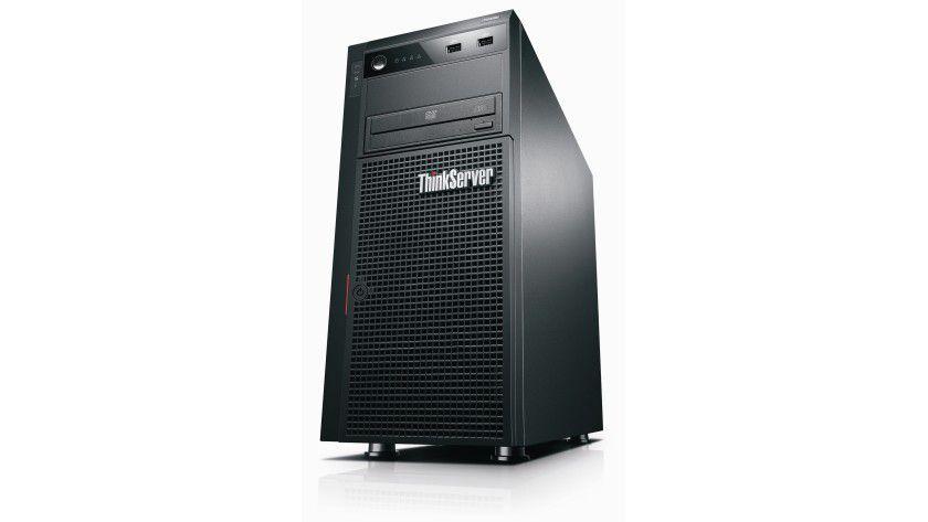 Lenovo TS430: Der ThinkServer lässt sich auch in einem Rack installieren.