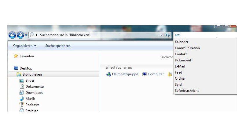 Besser finden: Über verschiedene Operatoren kann man die Suche begrenzen und optimieren