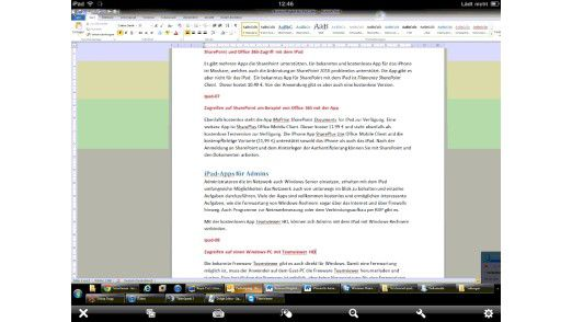 Hilfreich: Per Teamviewer HD kann man vom iPad auf einen Windows-PC zugreifen.