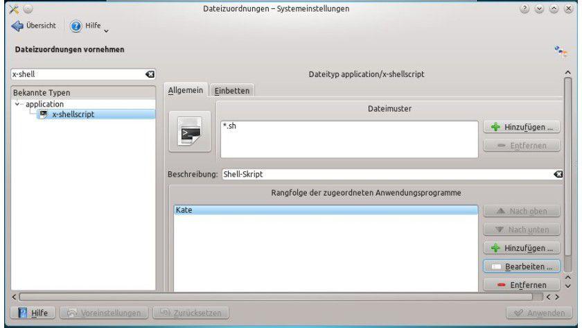 Verknüpft: Für Shell-Skripte ist in Kubuntu standardmäßig der Editor Kate zuständig. Andere Programme wie die Konsole lassen sich aber einfach hinzufügen.