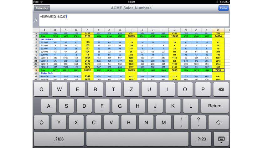 Funktion oder Bedienbarkeit: Nicht jedes Feature lässt sich elegant auf das iPad übertragen.