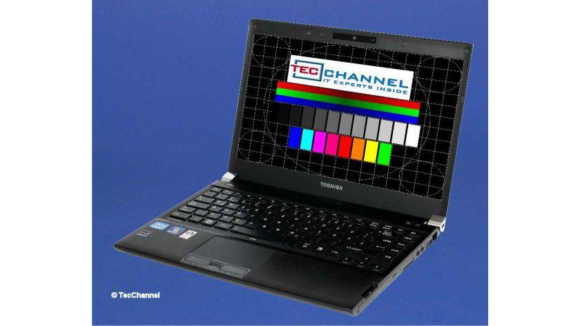 Toshiba Portégé R830: Das 13,3-Zoll-Display ist matt ausgeführt und arbeitet mit einer Auflösung von 1366 x 768 Bildpunkten.