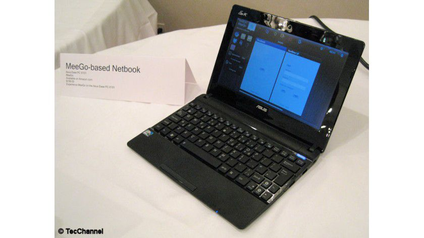 Seltenheit: Der Asus Eee PC X101 ist eines der wenigen Geräte mit dem Betriebssystem MeeGo.