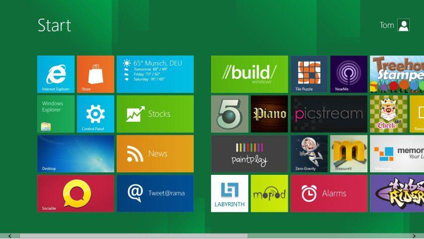 Schick: Der neue Windows 8 Startbildschirm.