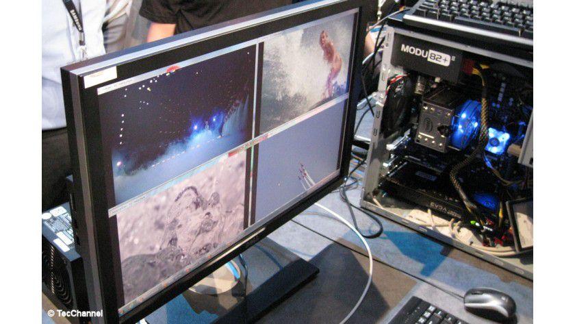 Haswell im Betrieb: Lange vor der Markteinführung im Laufe des Jahres 2013 führt Intel bereits ein lauffähiges System vor.