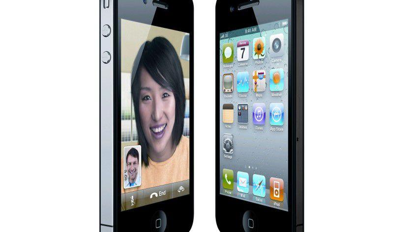 iPhone 4 vs. iPhone 5: Nicht wirklich, das dünnere rechte Gerät läßt sich in wenigen Sekunden per Bildbearbeitung produzieren. Bilder wie dieses gibt es massenweise im Internet.