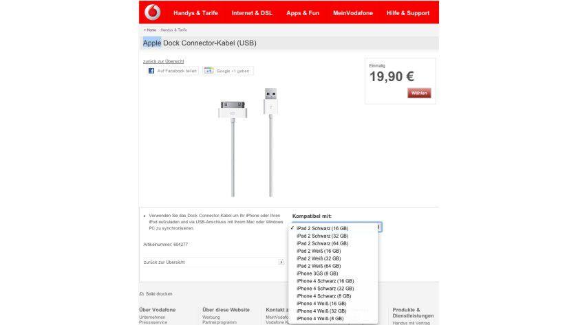 Update: Inzwischen hat Vodafone die neuen iPhones wieder aus dem Shop entfernt.