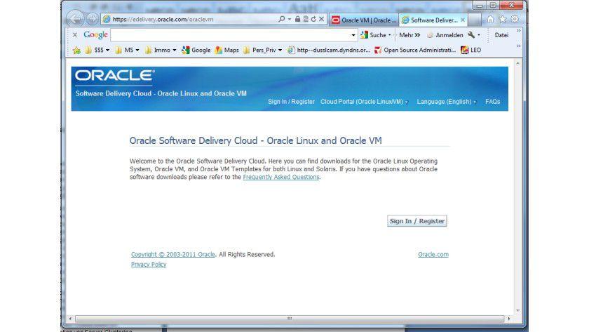 Gratis: Nach der Registrierung auf der Oracle-Website können Interessierte die VM-Software kostenfrei herunterladen.