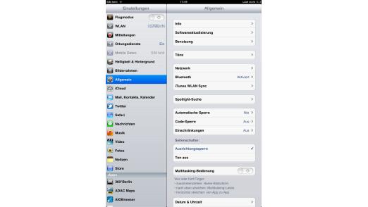 Bitte ändern: Die Voreinstellungen sind für die Sicherheit des iPads nicht optimal.
