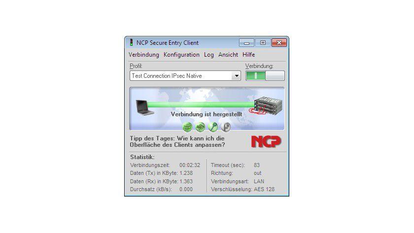 Details: Unterstützt Mobile Broadband: der Secure Entry Client von NCP