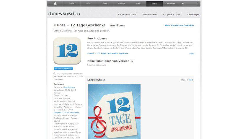 12 Tage: Die App zur Aktion gibt es ebenfalls kostenlos.