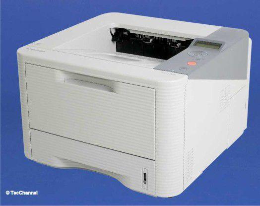 Samsung ML-3710D: Der kompakte Drucker ist serienmäßig mit einer Duplex-Einheit ausgerüstet.