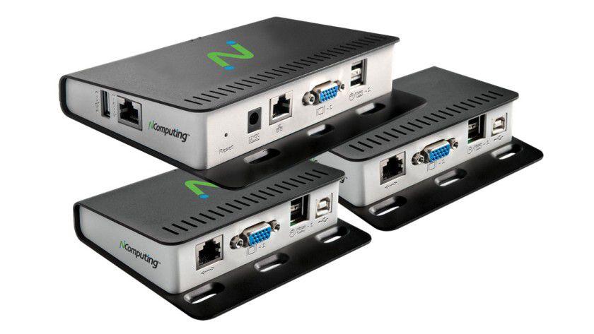 Desktop-Ersatz: Der M300 von NComputing soll einen herkömmlichen PC ersetzen können.