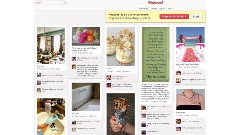 Virtuelle Pinnwand: Pinterest versteht sich als Sammelbecken für Bilder.