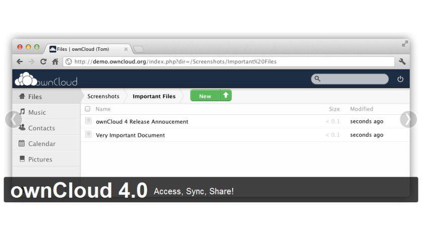 Private Cloud : Die ownCloud ist eine freie Cloud-Lösung für jedermann.