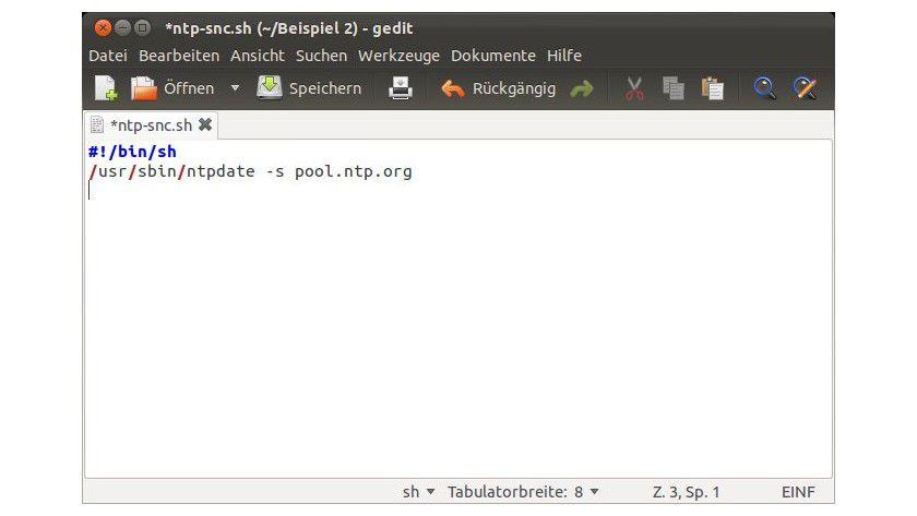 Geringer Aufwand: Mit einem kleinen Skript sorgen Sie dafür, dass Linux die Systemzeit regelmäßig aktualisiert.