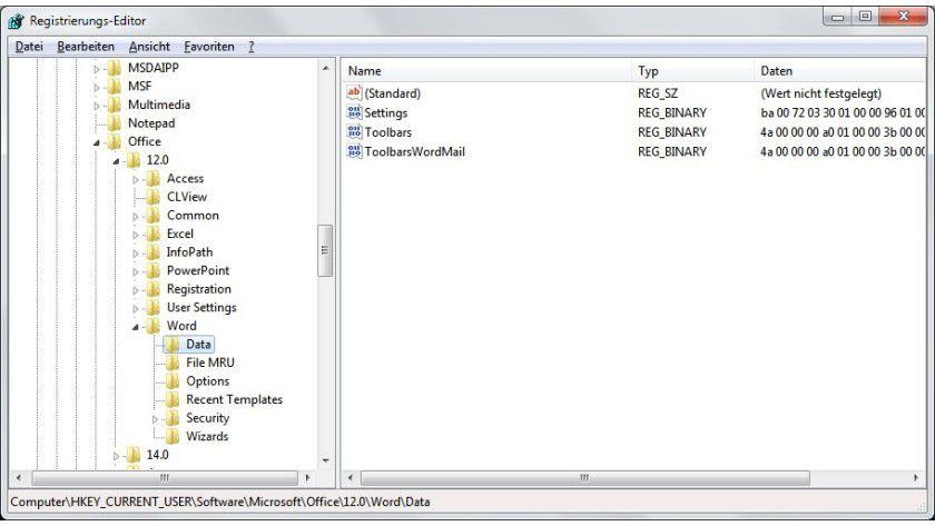Standard wiederherstellen: Hartnäckige Probleme beim Öffnen von Word-Dateien lassen sich oft durch einen Registry-Eingriff lösen.