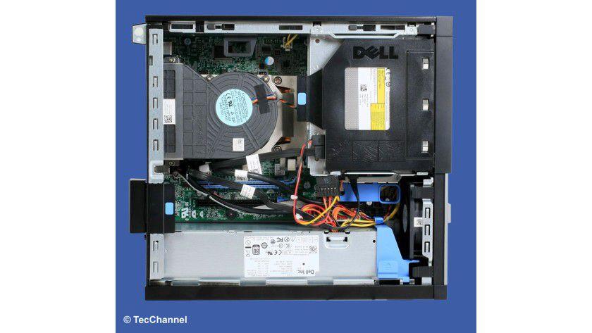 Innereien: Ausreichend Platz für Erweiterungen bietet der Dell OptiPlex 7010 SF.