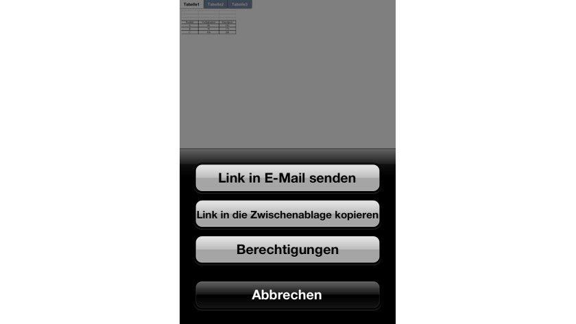 Zugriff: Sie können per SkyDrive-App mal eben eine Datei für andere Anwender freigeben.