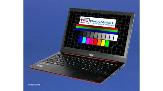 Fujitsu Lifebook U772: Das 14-Zoll-Display arbeitet mit LED-Hintergrundbeleuchtung und einer Auflösung von 1366 x 768 Bildpunkten.