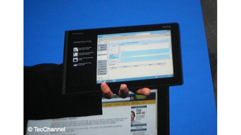 Lenovo ThinkPad Tablet 2: Das 10,1-Zoll-Gerät nutzt Intels Atom Clover Trail und arbeitet mit Windows 8. Die Verfügbarkeit des Tablets soll im Oktober 2012 sein.