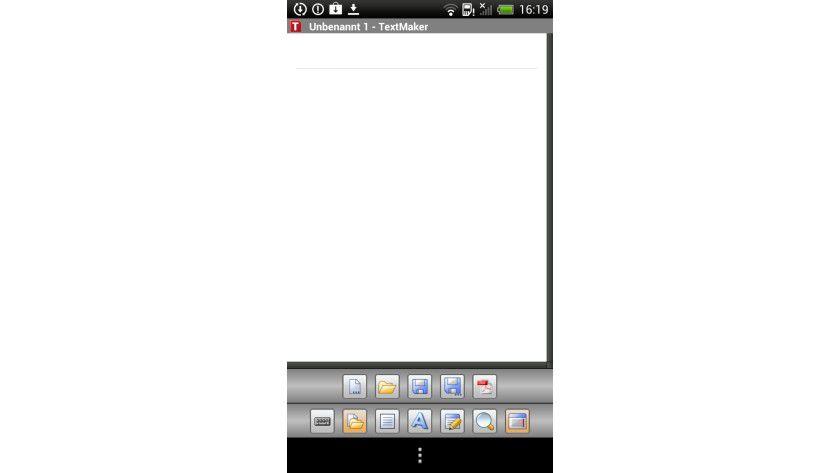 Übersichtlich: So sieht das Basis-Interface von TextMaker aus.