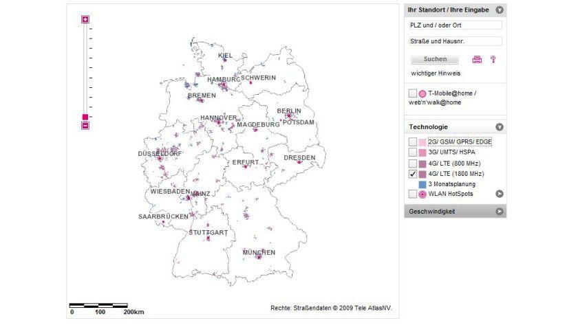 LTE-Ausbau: Die 1800-MHz-Technik setzt die Deutsche Telekom in den Städten ein.