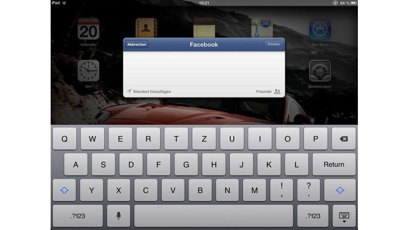 Integriert: Apples iOS 6 wartet mit einer Facebook-Integration auf.