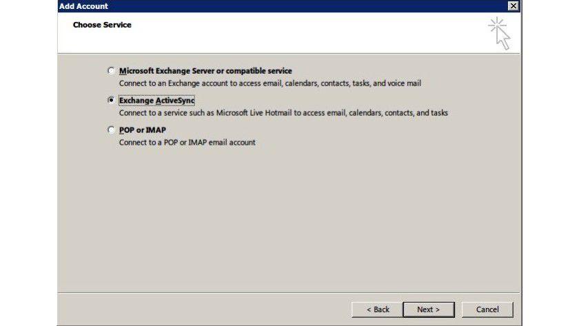 Einfache Verbindung: Mithilfe von Exchange ActiveSync lässt sich in Outlook auch direkt auf ein Hotmail-Konto zugreifen.
